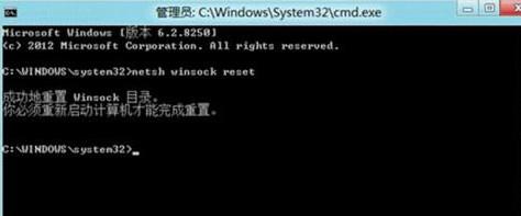"""输入""""netsh winsock reset"""""""